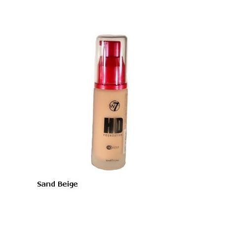 W7 High Definition Foundation 30ml - Sand Beige