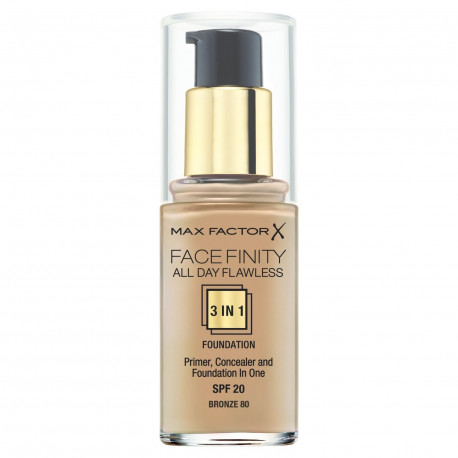 Max Factor Facefinity All Day Flawless 3 In 1 Foundation Bronze 80
