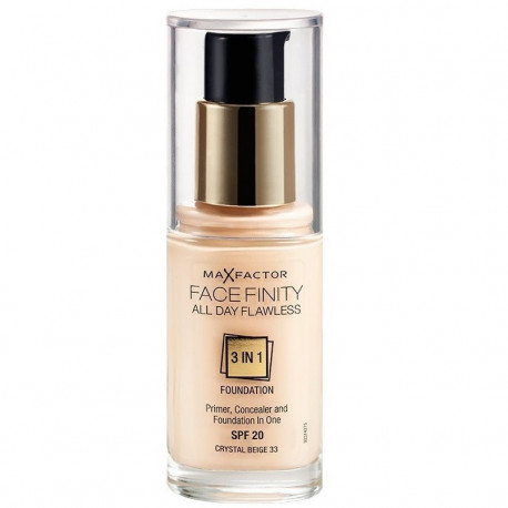 Max Factor Facefinity All Day Flawless 3 In 1 Foundation Crystal Beige 33