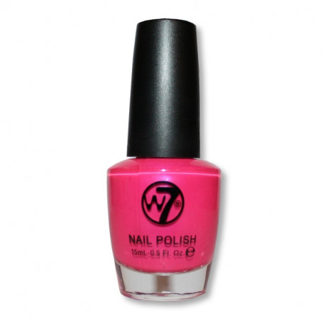 W7 Fluorescent Pink (14) Nail Polish 15ml