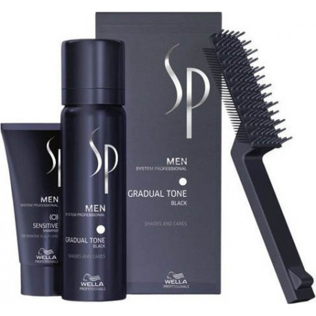 Wella Sp Men Gradual Tone Pigment Mousse Μαύρο