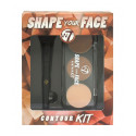 W7 Shape Your Face contour-kit-includes-palette-brush 6g