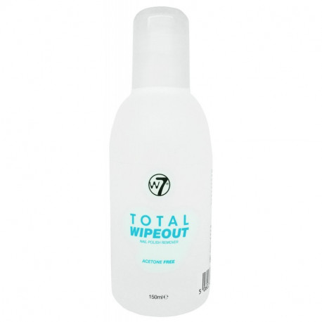 W7 Total-wipeout-nail-polish-remover acetone free 150ml