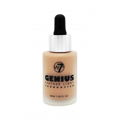 W7 Genius Foundation Natural Beige 30ml