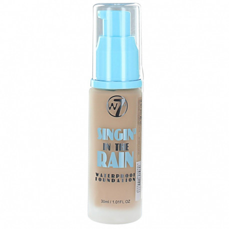 W7 Singin In The Rain Waterproof Foundation Natural Tan 30ml