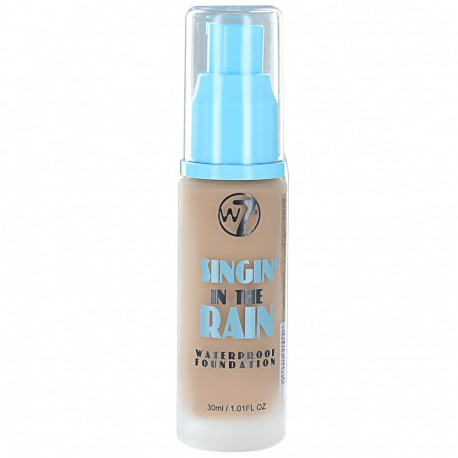 W7 Singin In The Rain Waterproof Foundation True Beige 30ml