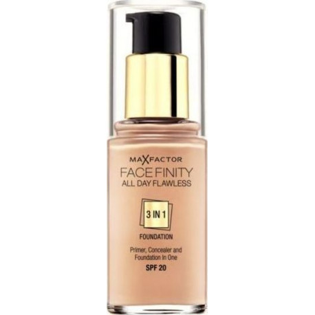 Max Factor Facefinity All Day Flawless 3 In 1 Foundation Warm Almond 45 30ml SPF20