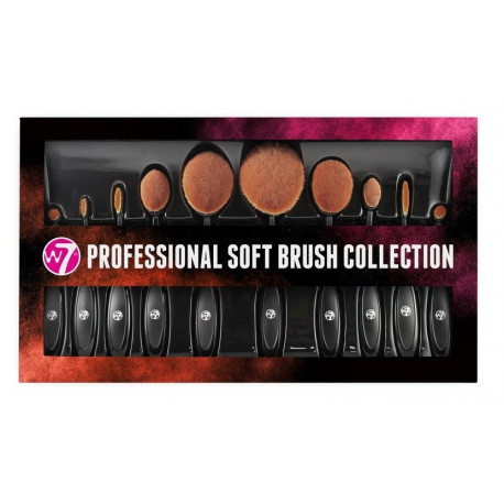W7 Professional Soft Brush Collection ΣΕΤ 10τεμ