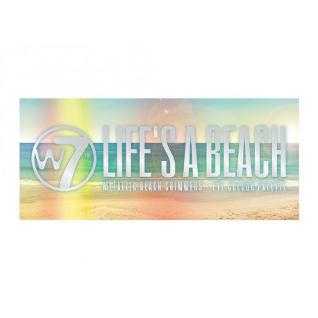 W7 Life's A Beach Metallic Beach Shimmers Eye Colour Palette 9.6g