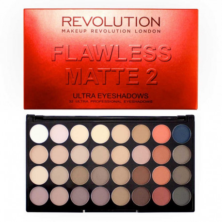 Make Up Revolution Flawless Matte 2 Eyeshadow Palette 20g