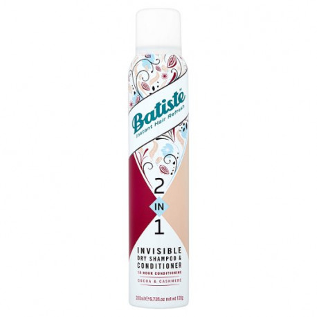 Batiste 2-in-1 Invisible Dry Shampoo & Conditioner 200ml - Cocoa & Cashmere