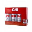 Farouk Systems Inc. Chi Home Stylist Kit Infra Treatment 355ml & Infra Shampoo 355ml & Keratin Mist 355ml & Silk Infusion 59ml