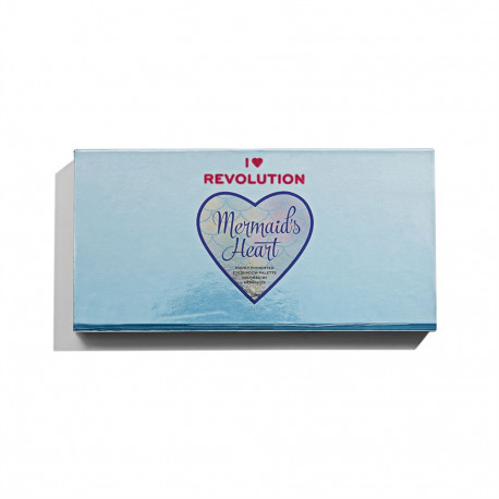 I Heart Revolution Mermaids Heart Eyeshadow Palette 12x0.75gr