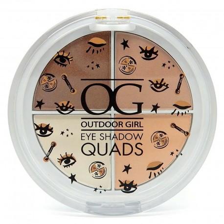 Outdoor Girl Eye Shadow Quads Palette - Caffe Latte