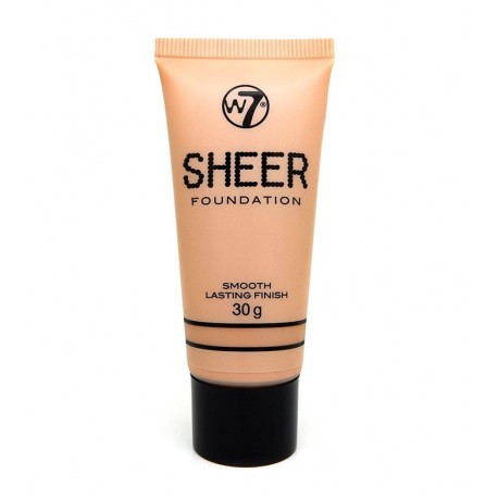 W7 Sheer Foundation Smooth Lasting Finish - Nude 30g