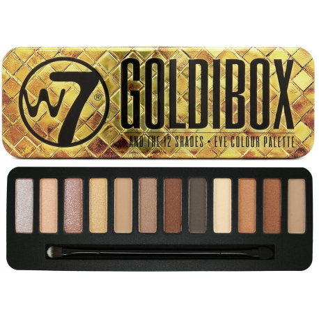 W7 Goldibox Eyeshadow Palette 15.6g