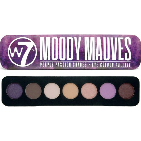 W7 Cosmetics Moody Mauves Eye Colour Palette 7g