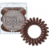Invisibobble The Traceless Hair Ring λαστιχάκι για τα μαλλιά 3 τεμ Pretzel Brown