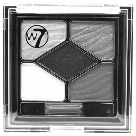 W7 Silky Eyes Shadow Palette - 5 Shades Of Grey 4.5g