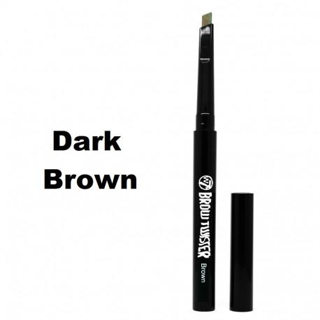 W7 Brow Twister, Easy Twist Eye Brow Pencil 0.28g Dark Brown